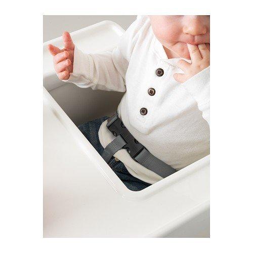 """IKEA Kinderhochstuhl """"ANTILOP"""" mobiler Babystuhl mit Sicherheitsgurt UND Tablett – weiss - 2"""