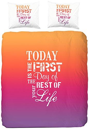 Good Morning Einzelbett Bettbezug heute 100 Prozent Baumwolle, Orange (4600 Cover)