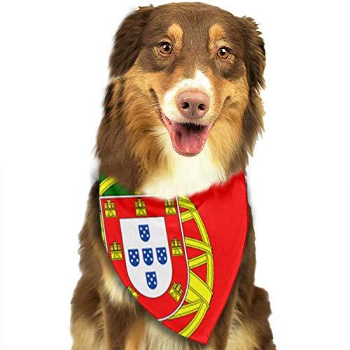 Rghkjlp Dogs Bandana Collars Portugal Flag Pets Triangle Neckerchief Puppy Bibs Scarfs Cats Scarfs Towel