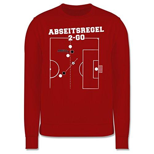 Fußball - Abseitsregel-2-Go - Herren Premium Pullover Rot