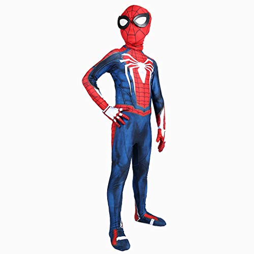Männer Kinder Kostüm Weise - Yanbeng Spider-Man Bodysuit Cosplay Kostüm 3D Print Spandex Lycra Kleider Kinder Weihnachten Halloween Dress Up,Children,XS