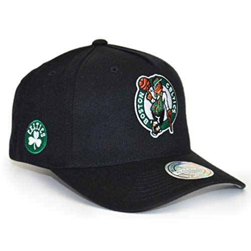 509f94eafe0c6 Mitchell   Ness Boston Celtics INTL132 110 Curved Eazy NBA Flexfit Snapback  Cap One Size