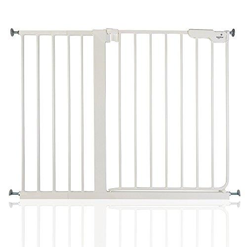 BabyDan Danamic - Bebé Puerta de la Escalera Barrera de Seguridad Blanco,...