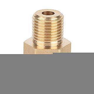 Gorgeri Messing Messing Rohrverschraubung, 1/8-Zoll NPT Stecker x 1/8 Zoll BSP Rohradapter Anschluss