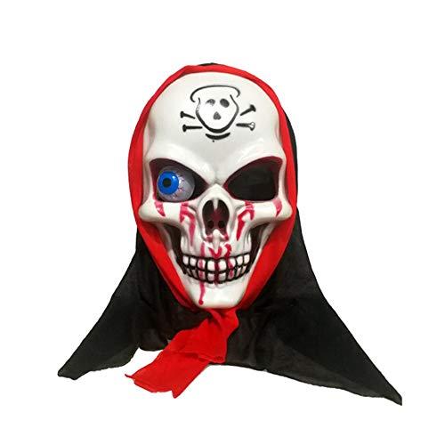 Halloween Horro Maske Make Up Party Maske Rotes Kopftuch Piraten Maske Requisiten