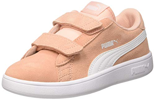 Puma Puma Smash v2 SD V PS, Unisex-Kinder Sneakers, Beige (Peach Bud-Puma White), 34 EU (1.5 UK)