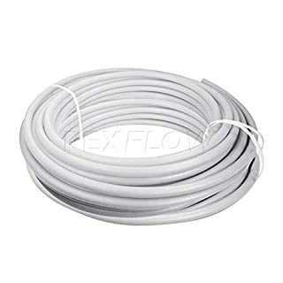 Pexflow PEX Potable Water Tubing - PFW-W12500 1/2 Inch X 500 Feet Tube Coil for Non-Barrier PEX-B Residential & Commercial Hot & Cold Water Plumbing Application (White)