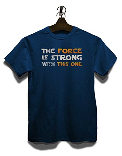 The Force Is Strong With This One Vintage T-Shirt Navy Blau