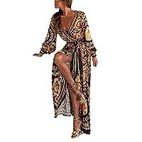 Donna Sottile Vestito con Aberturas Abito Maxi di Pizzo Senza Schienale  Vestiti da Cerimonia Abito da Sera Partito Festa Banchetto 237f835d34d
