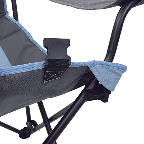 10T Campingstuhl Joe Arona XXL Klappstuhl Stuhl mit Fußstütze & verstellbarer Rückenlehne max 150 kg