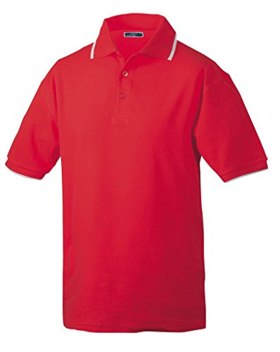 Piqué Polo Red/White