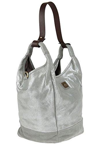 Anokhi  1177124 502, Sac à main pour femme silver/stone