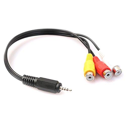 TOOGOO 2,5 mm Mini AV Stecker auf 3 RCA Buchse M/F Audio Video Kabel Stereo Jack Adapterkabel - Mini-stereo-zu-rca-weiblich