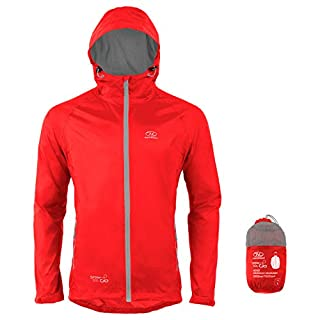 Highlander Stow & Go Packaway Jacket Red, Small