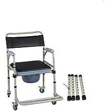 SOUMAO Ronda WC asiento para el anciano móvil plegable el inodoro sillas Sillas de ruedas Silla Con Inodoro