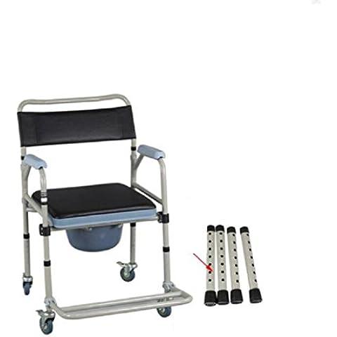 Ronda WC asiento para el anciano móvil plegable el inodoro sillas Sillas de ruedas Silla Con