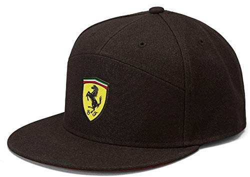 Branded Sports Merchandising B.V. B.V. Scuderia Ferrari F1 Mütze mit Flacher Krempe, Schwarz