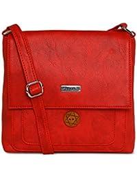 ESBEDA RED Color Solid Slingbag For Women