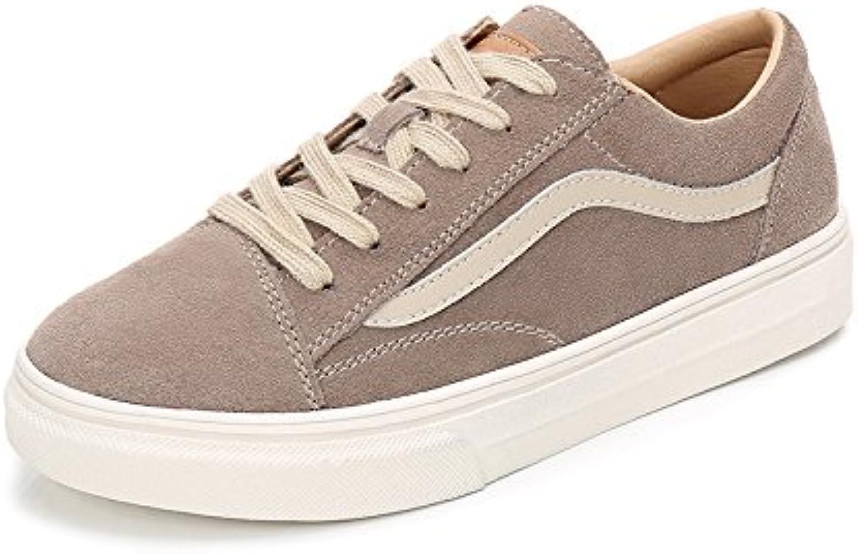 Wuyulunbi@ La primavera y el otoño señoras Zapatos Zapatos Zapatos blancos,Thirty-Six,caqui