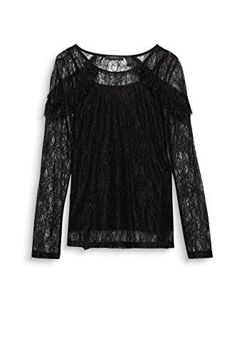 ESPRIT Collection Damen Langarmshirt Schwarz (Black 001)