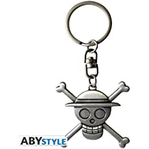 Abystyle One Piece Portachiavi 3D Skull Luffy, ABYKEY153