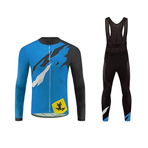 Uglyfrog Abbigliamento Ciclismo Uomo Asciugatura Veloce Maglia Manica Lunga +Pantaloni Abbigliamento da Ciclismo Abbigliamento Sportivo da Equitazione DXMZ11
