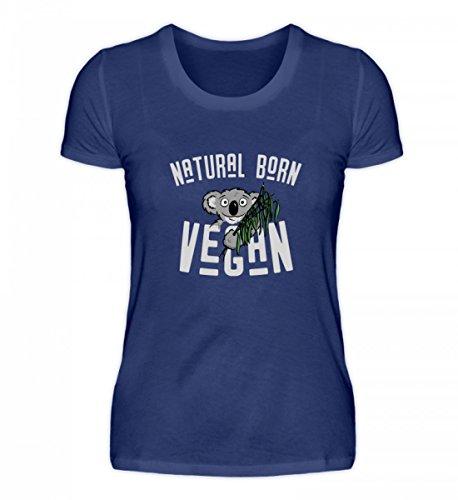 Camicia Bio Da Donna Di Alta Qualità - Natural Born Vegan Koala Gift Purple Blue
