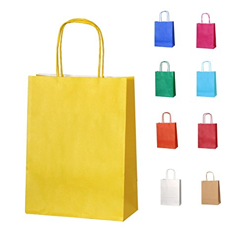 15-yellow-thepaperbagstore-tm-small-paper-party-bags-with-handles-choose-your-colour-and-quantity
