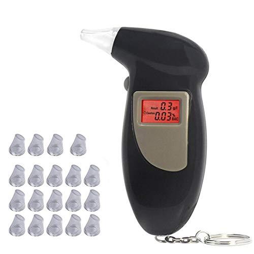 Probador de aliento de alcohol digital de bolsillo profesional sin analizador de luz de fondo Detector...