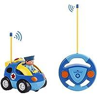 FPVRC Coches Teledirigidos 2 Canales RC Juguetes Radio Control Remoto de Coche Tren con Música y Luces para Bebés Niños de 18 Meses+ (Azul)