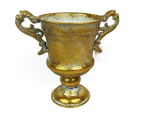 Zelda Bonbonnière Verre à Pied doré métal D. 13 H.18,5 Vieilli décoration Baroque Wedding