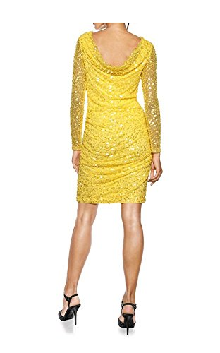 Designer-Rückendekolletékleid, gelb Gelb