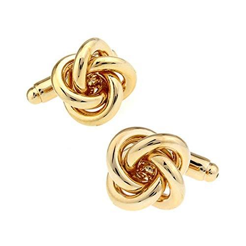Baoga Goldener Spiral Twist Style French Hemd Manschettenknöpfe Ärmel Nagel