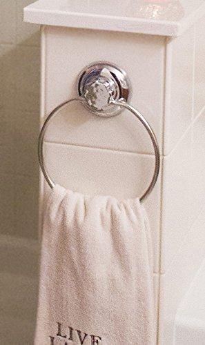 MaxHold Saugschraube Runde Handtuchring – Edelstahl rostet nicht – Küchen & Badezimmer Aufbewahrung