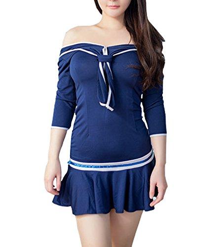 365-Shopping Sexy Cosplay Schulmädchen Dessous Outfit Mini Sailor Anzug mit (Kostüm Ideen Studenten Halloween)