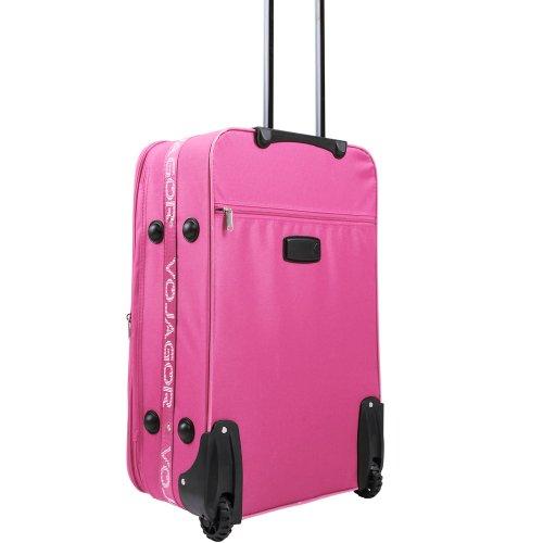 5 TLG. Trolleyset Kofferset Reisekoffer Handgepäck XXL, XL, L, M, S (Pink) - 4