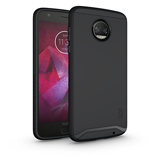 Moto Z2 Force Hülle, TUDIA Slim-Fit MERGE Dual Layer Schutzhülle für Motorola Moto Z Force (2nd Generation), Moto Z2 Force Droid Edition (Matte Black)