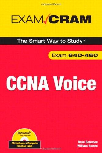 CCNA Voice Exam Cram (Book & CD Rom) por David J. Bateman
