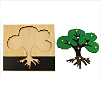 Wumudidi Wooden animal jigsaw puzzle, Montessori material early childhood development puzzle game(9.4 * 9.4inch)