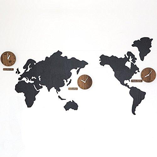 nduhr Wohnzimmer Moderne Uhr Personalisierte Amerikanische Wand Tisch Hintergrund Wand DIY Uhr (Farbe : Schwarz) ()