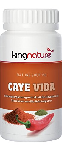 Kingnature Caye Vida - 72 Kapseln mit Cayenne und Grüntee-Extrakt