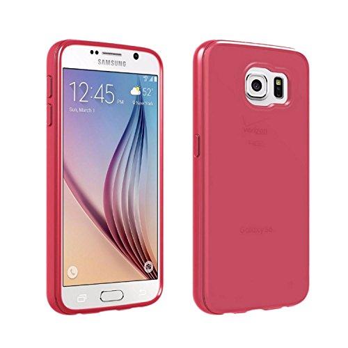 Verizon Silikon Schutzhülle High Gloss Pink für Galaxy S6(Pink)