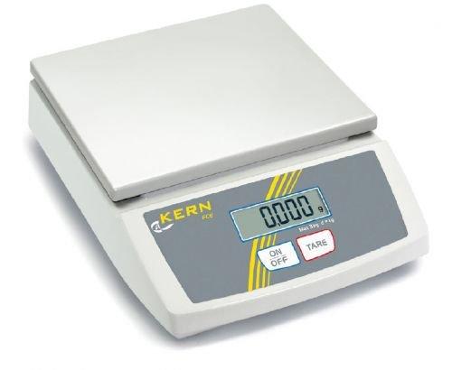 Balance de table [Kern FCE 30 K10 N] Balance de table débutants, Mobile, maniable, léger, portée [Max] : 30 kg, graduation [d] : 10 g Capacité, reproductibilité : 10 g, linéarité : 30 g, plateau de mesure : profondeur : 252 x 228 mm (plastique)