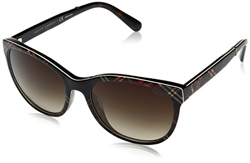 Polo Ralph Lauren Damen 0Ph4117 562213 56 Sonnenbrille, Schwarz (Black Tartan/Brown) Ralph Lauren Tartan