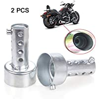 ETGtek 2pcs de escape de la motocicleta de alta calidad db Killer Silenciador Ajustable de escape Silenciador 48mm