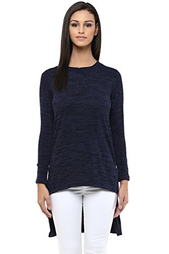 Izabel London by Pantaloons Women's Round Neck Sweater _Navy_XL