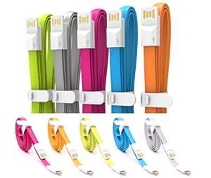 Apple iPhone 4 , iPad, iPod USB 30 Pins Flat Data Sync Cable - BLUE
