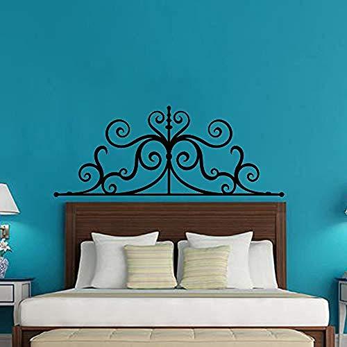 Gran corazón de hierro cabecera etiqueta de la pared sofá dormitorio cabecera enorme corazón flecha etiqueta de la pared sala de estar habitación de los niños decoración de vinilo 100x39 cm