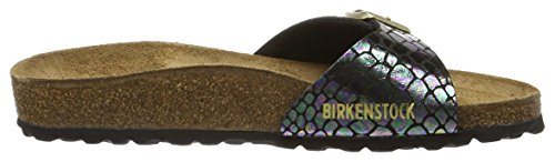 Birkenstock MADRID BF 40733 Damen Clogs & Pantoletten Mehrfarbig (Shiny Snake Black Multi)