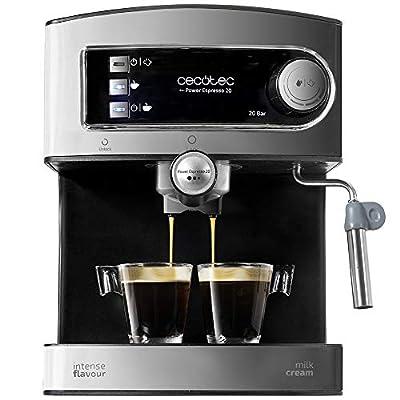 Cecotec Express Espresso 20 - Espresso and cappuccino machine with vaporizer, 20 bar pressure and 850 W power